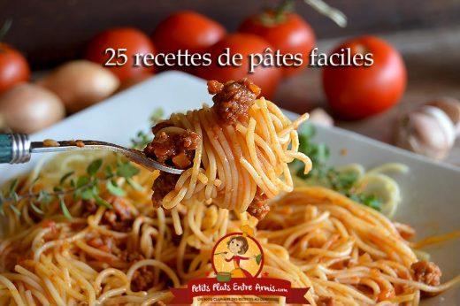 25 recettes de pâtes faciles