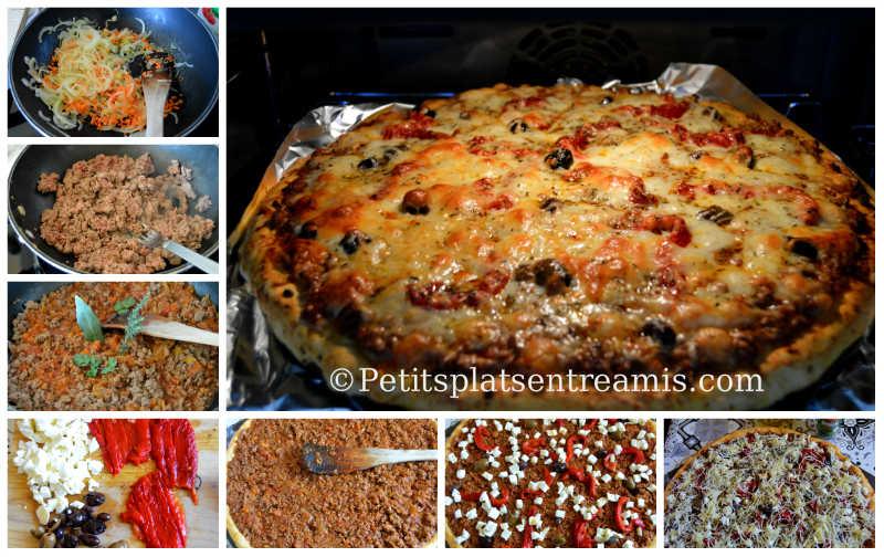 Cuisson pizza bolognaise