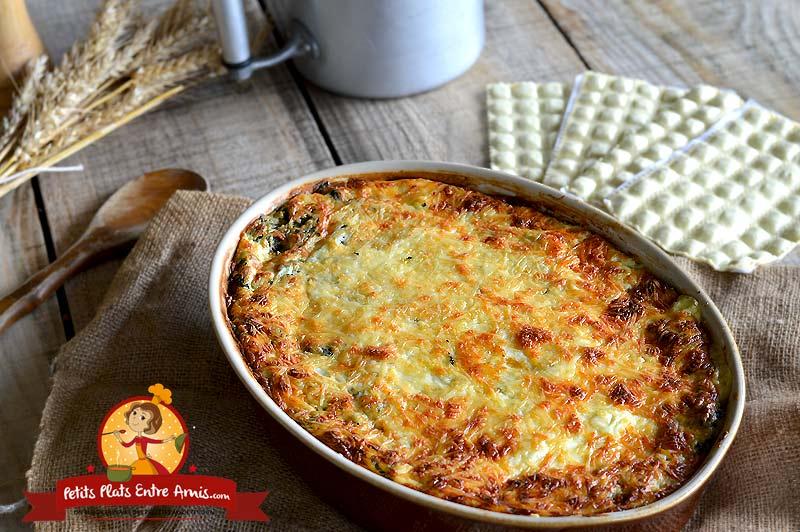 Gratin de ravioles du Dauphiné aux épinards la recette
