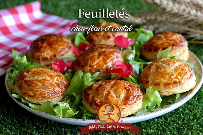 Feuilletés au chou-fleur cantal et poulet
