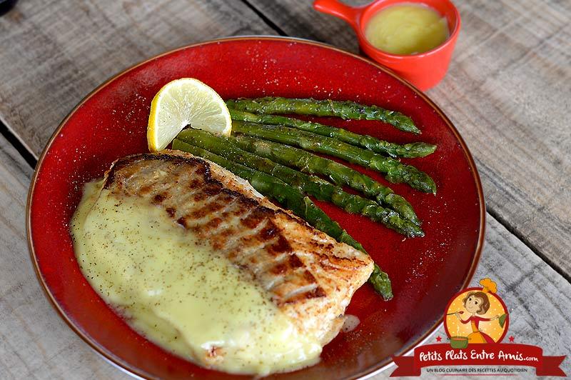 Filet de poisson aux asperges sauce hollandaise la recette