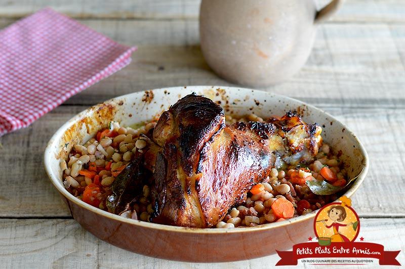 Jarret de porc aux haricots blancs la recette
