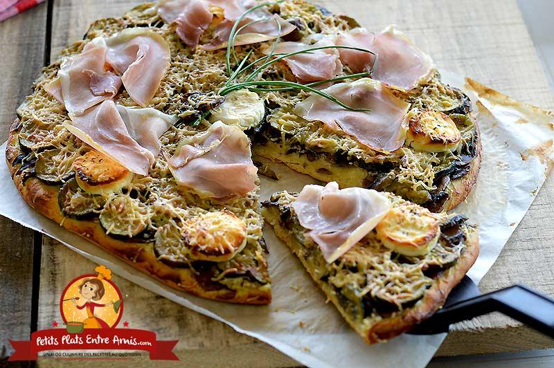 Pizza aux courgettes et chèvre la recette