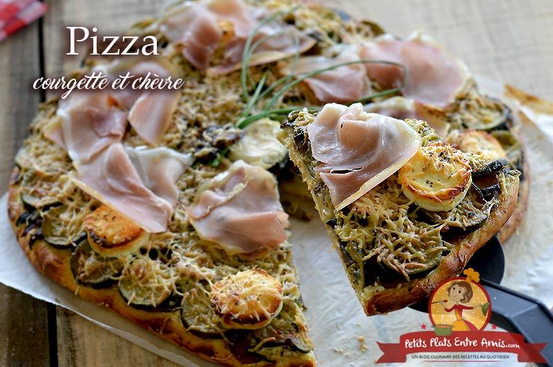 Pizza aux courgettes et chèvre