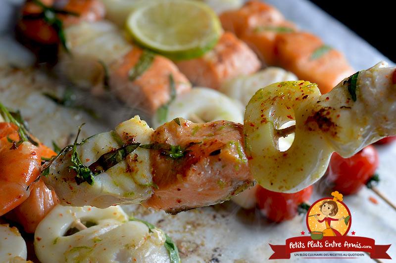 Quelle cuisson pour les brochettes de poisson