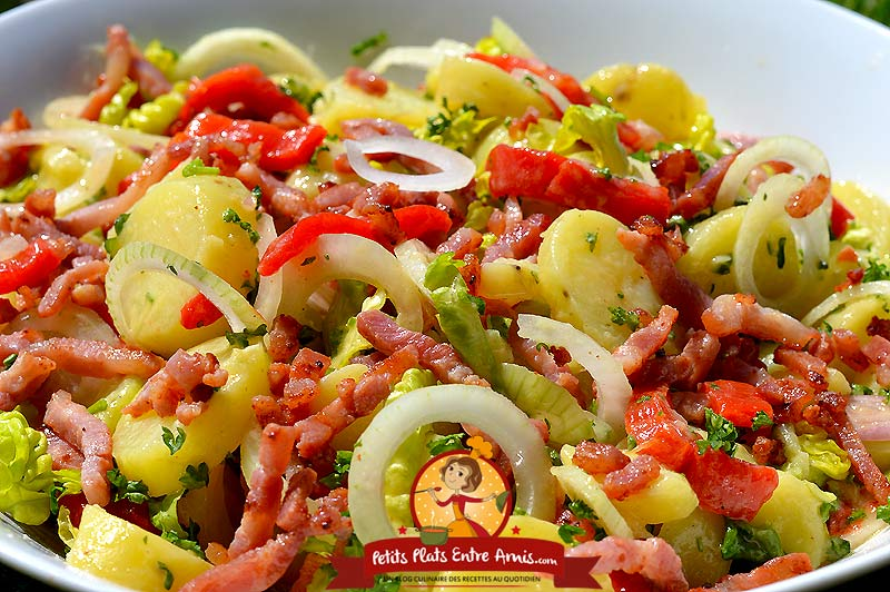 Recette salade de pommes de terre aux lardons