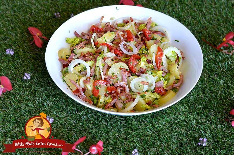 Salade de pommes de terre aux lardons la recette