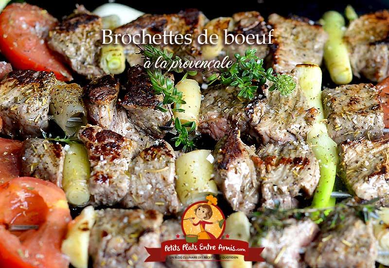 Brochettes de boeuf à la provençale