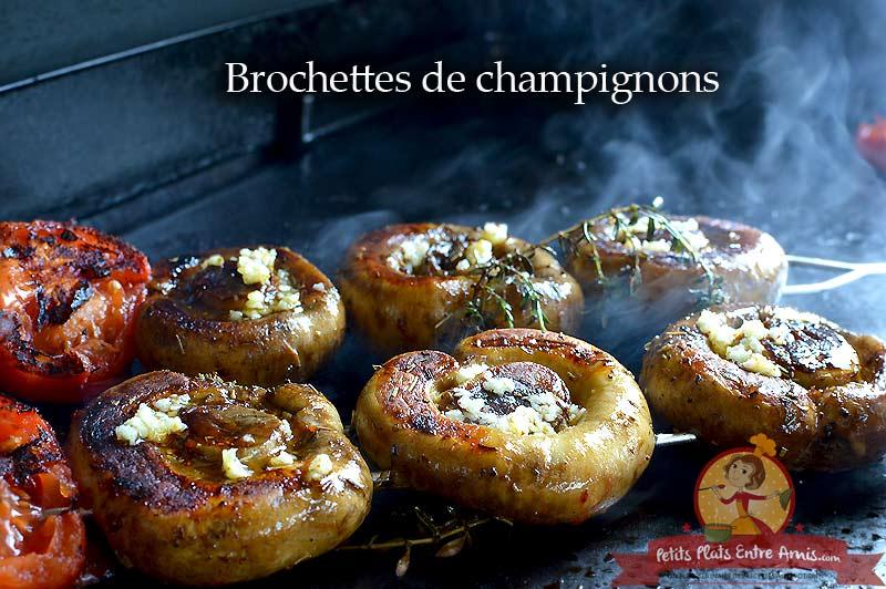 Brochettes de champignons