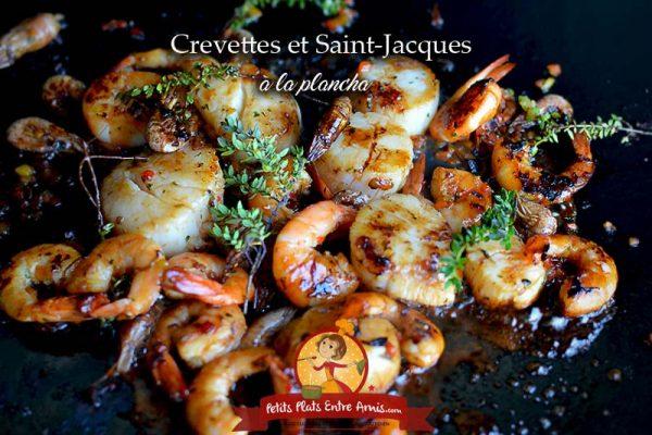 Crevettes et noix de Saint-Jacques à la plancha