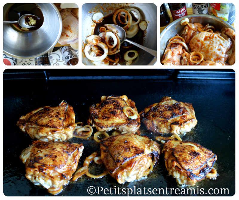 Cuisson hauts de cuisses de poulet à la plancha