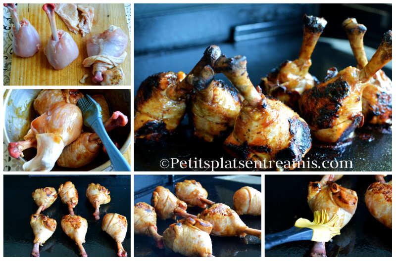 Cuissonpilons de poulet teriyaki à la plancha