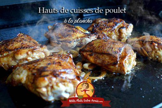 Hauts de cuisses de poulet à la plancha