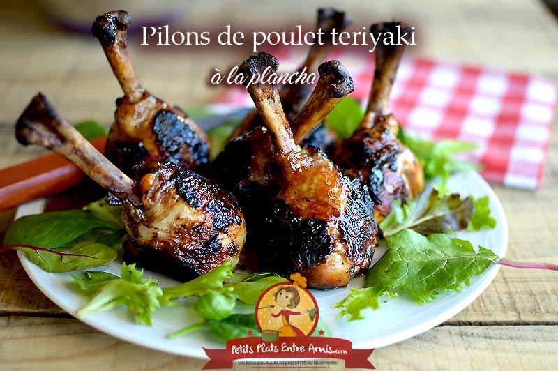Pilons de poulet teriyaki à la plancha