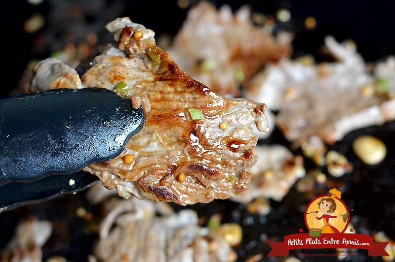 Quelle cuisson pour un émincé de boeuf à la plancha?