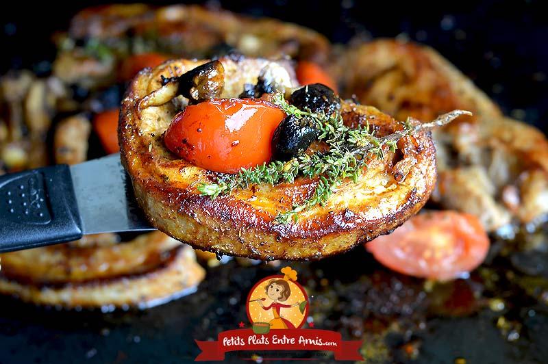 Quelle cuisson pour la poitrine de veau à la provençale?
