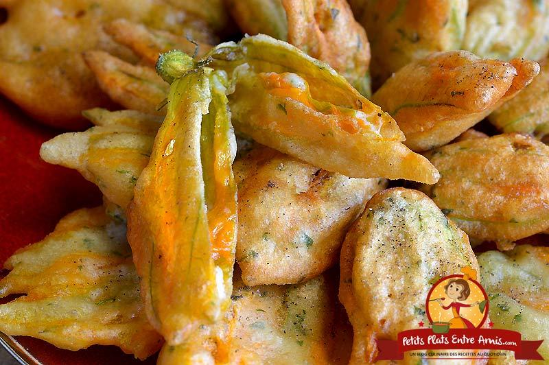 Quelle cuisson pour les beignets de fleurs de courgettes?