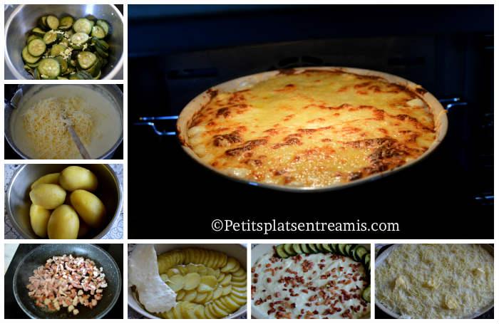 Cuisson gratin de courgettes et pommes de terre