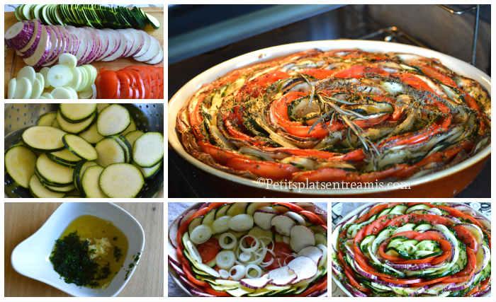 Cuisson tian de légumes