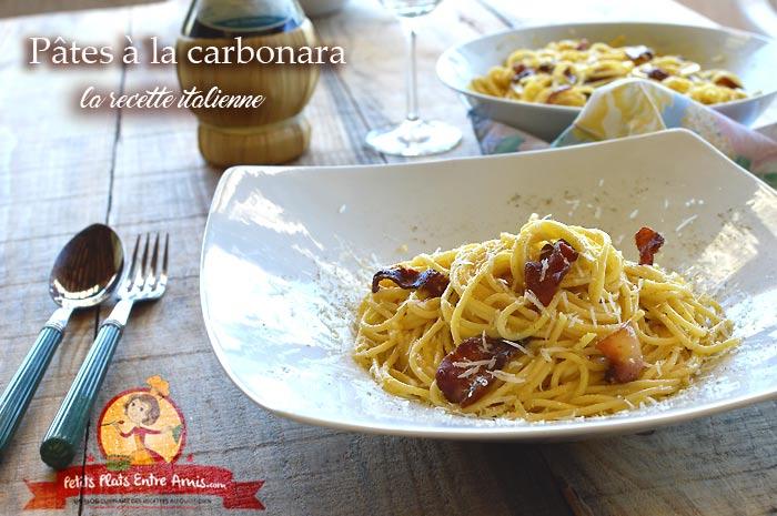 Pâtes à la carbonara la recette italienne