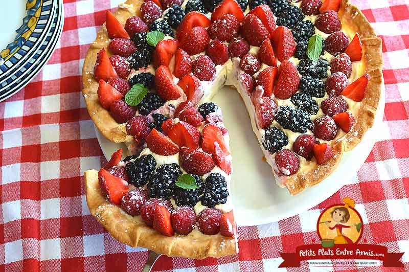 Quelle cuisson pour une tarte aux fruits rouges?