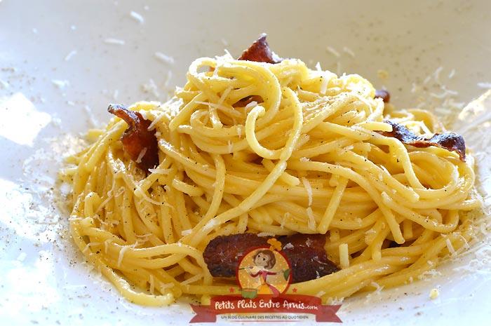Recette pâtes à la carbonara la recette italienne