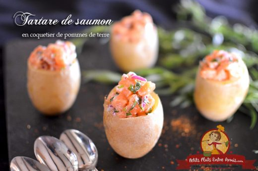 Tartare de saumon en coquetier de pommes de terre
