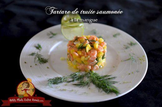 Tartare de truite saumonée à la mangue