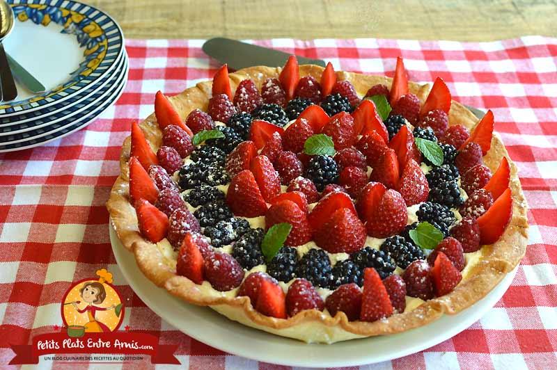 Tarte aux fruits rouges et chantilly la recette