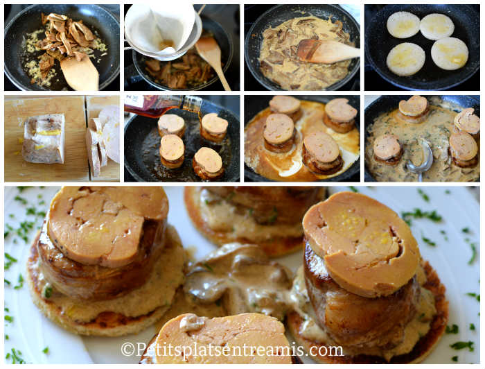 Cuisson médaillons de filet mignon au foie gras et aux cèpes