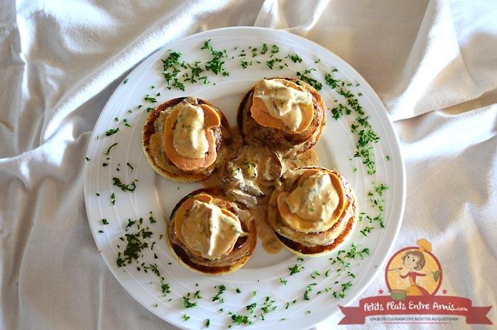 Médaillons de filet mignon au foie gras et aux cèpes la recette