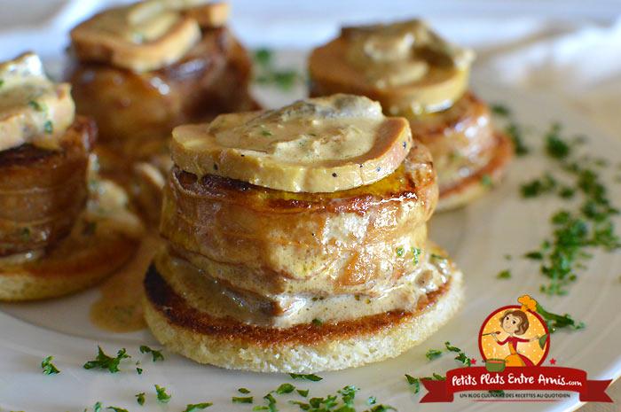 Recette médaillons de filet mignon au foie gras et aux cèpes