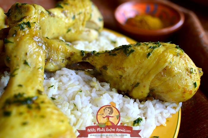 Recette pilons de poulet à l'indienne