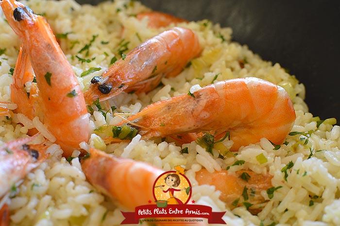 Recette riz frit aux crevettes