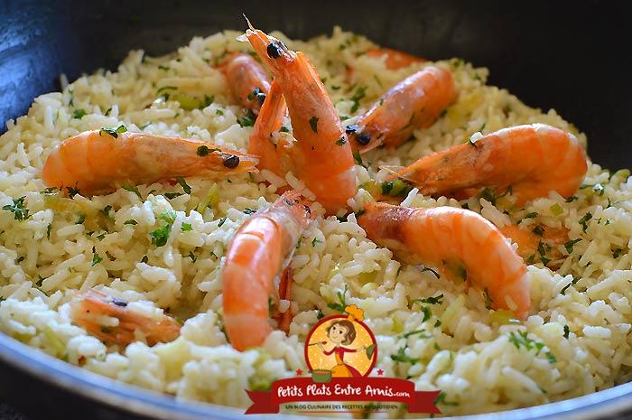 Riz frit aux crevettes la recette