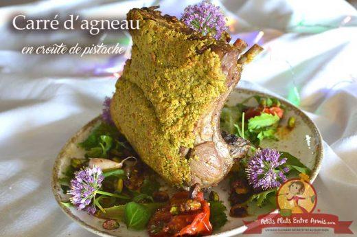 Carré d'agneau en croûte de pistaches