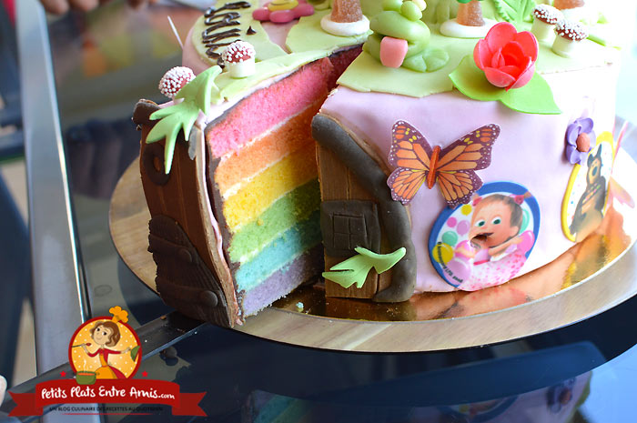 Rainbow cake Masha et Michka