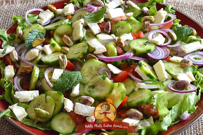 Recette salade de concombres libanais