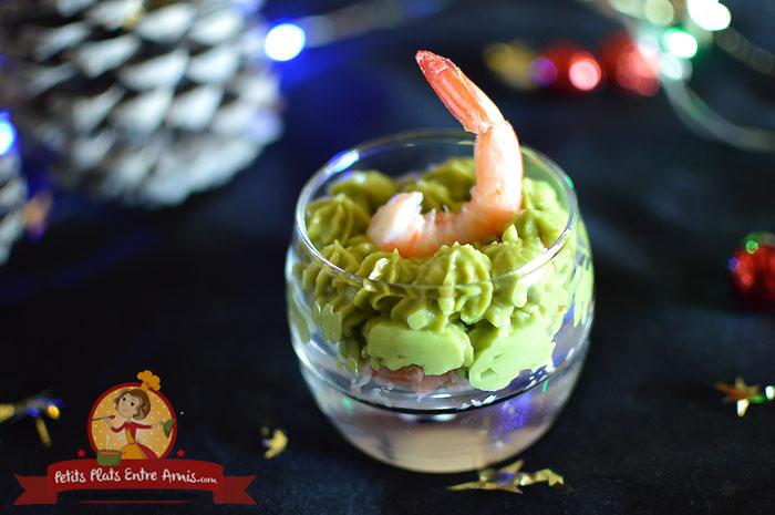 Recette de verrine de guacamole et crevette