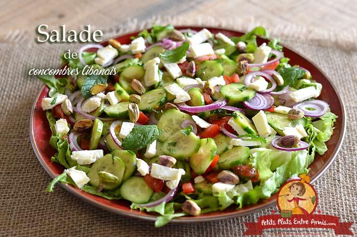 Salade de concombres libanais