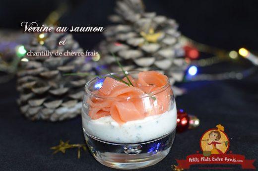Verrine au saumon et chantilly de chèvre frais