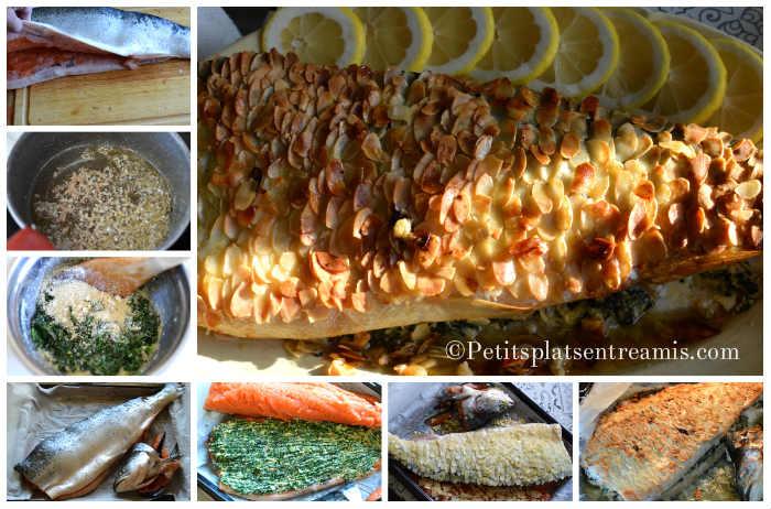 Cuisson saumon en croûte d'amandes