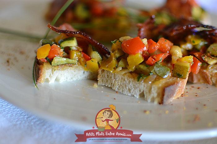 Idée de toast aux légumes