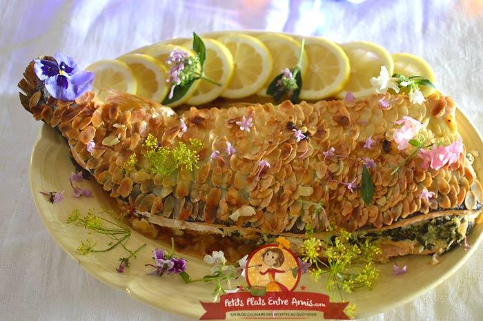 Recette de saumon en croûte d'amandes