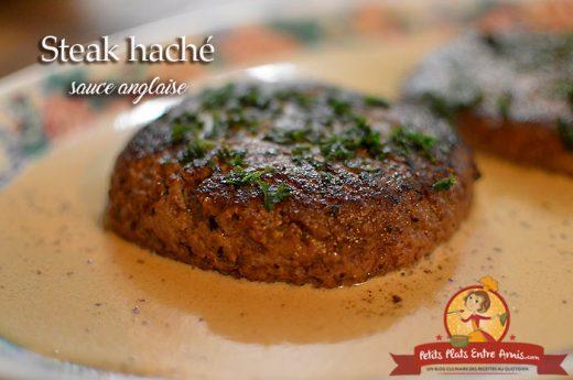 Steak haché sauce anglaise