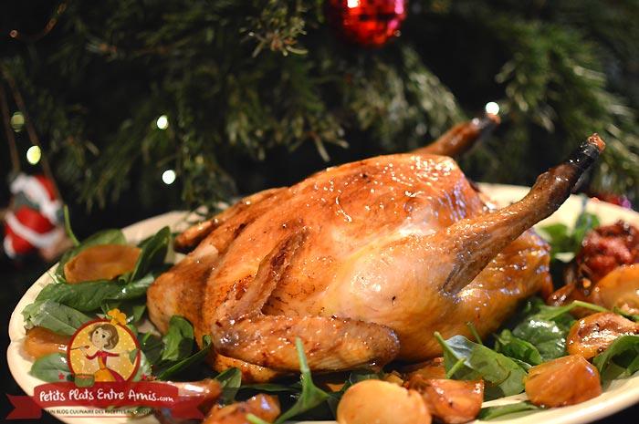 Poulet de Bresse farci aux foies de volaille et pommes la recette