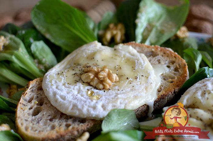 Recette salade de mâche au picodon