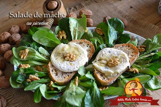 Salade de mâche au picodon