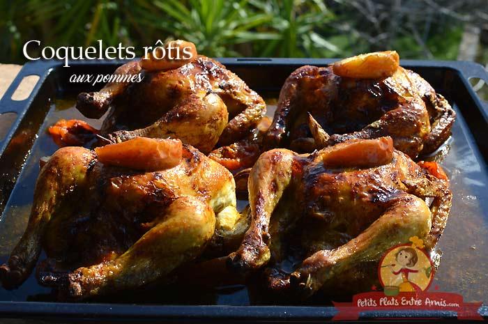 Coquelets rôtis aux pommes
