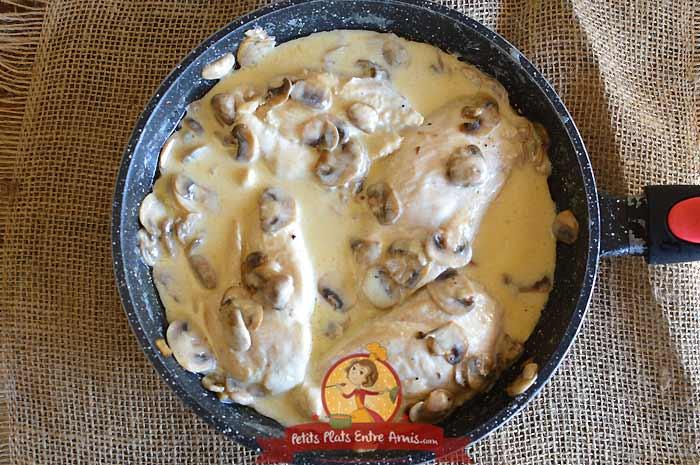 Escalope de poulet à la crème la recette